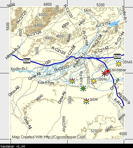 Kandahar TOPO Garmin Compatible Map GPSFileDepot
