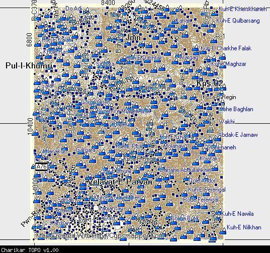 Charikar TOPO Garmin Compatible Map GPSFileDepot - Charikar map
