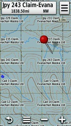 Screenshot of HUNT Alaska for Garmin GPS running on a Garmin Montana