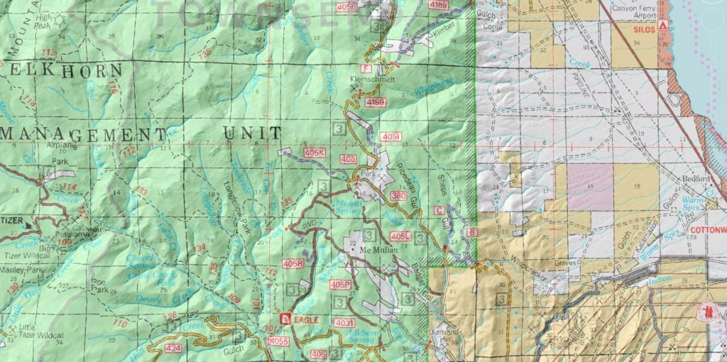 Helena National Forest Travel Map Garmin Compatible Map GPSFileDepot