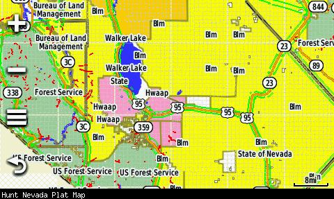 Screenshot of HUNT Nevada by onXmaps displayed on a Garmin Montana 600 GPS unit