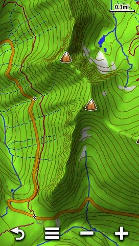 Some Screenshots Were Taken Enabled Over Garmin S Topo 24k Product As You Can See The Terrain Shading Of Garmin S Product Shows Up Through Some Of The