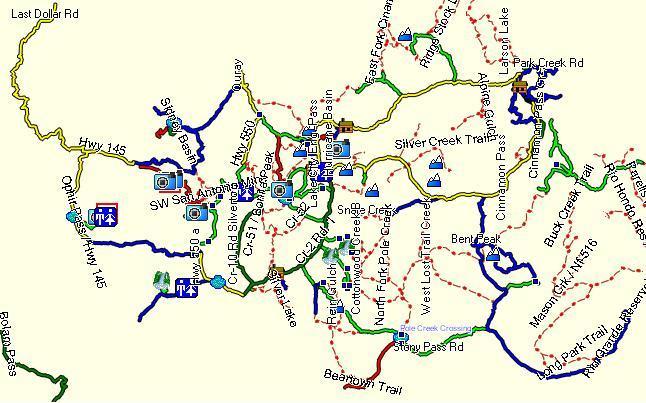 Alpine Loop Trails, CO Garmin Compatible Map   GPSFileDepot
