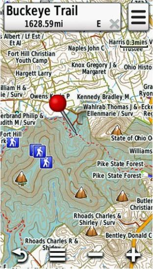 Screenshot of HUNT Pennsylvania for Garmin by onXmaps displayed on a Garmin Montana 600 GPS Unit